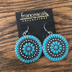 Francescas NWT. Turquoise earrings